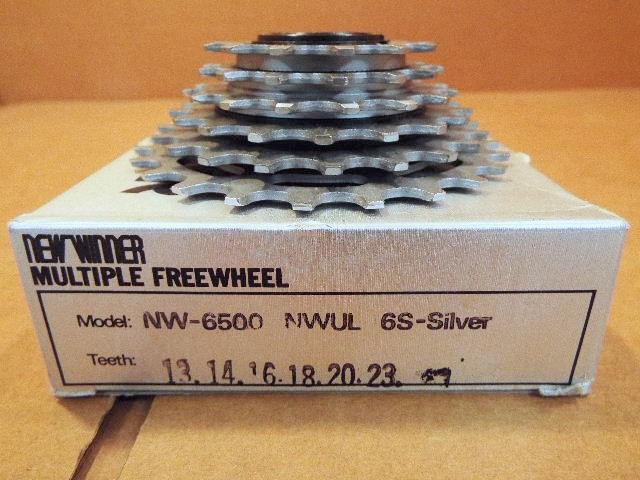 New-Old-Stock Suntour Pro-Compe Ultra 6-Speed Freewheel 14x22 w//Silver Finish