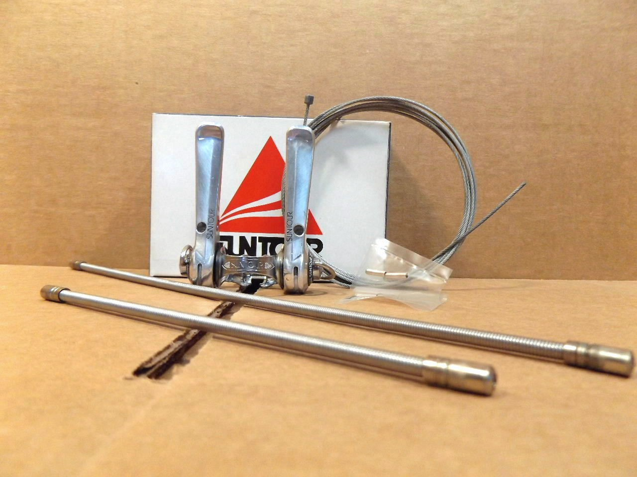 New-Old-Stock Suntour Sprint Down Tube Shifters...Clamp-On Model LD-4800