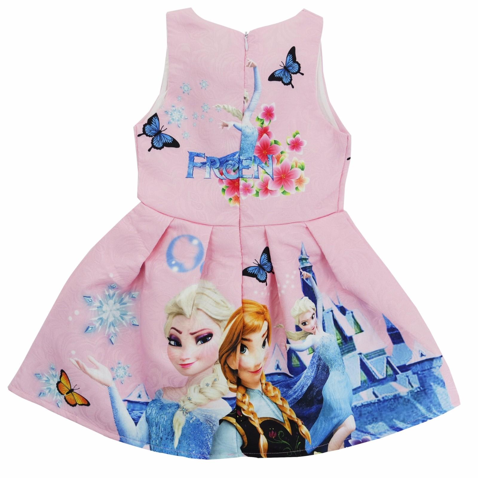 Eiskönigin Frozen Kostüm Mädchen Kleid Kinder Partykleid Prinzessin ...
