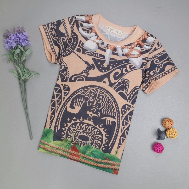 9c400328afc5c Costume Déguisement T-Shirt Pantalon Moana Vaiana Maui Garçon ...