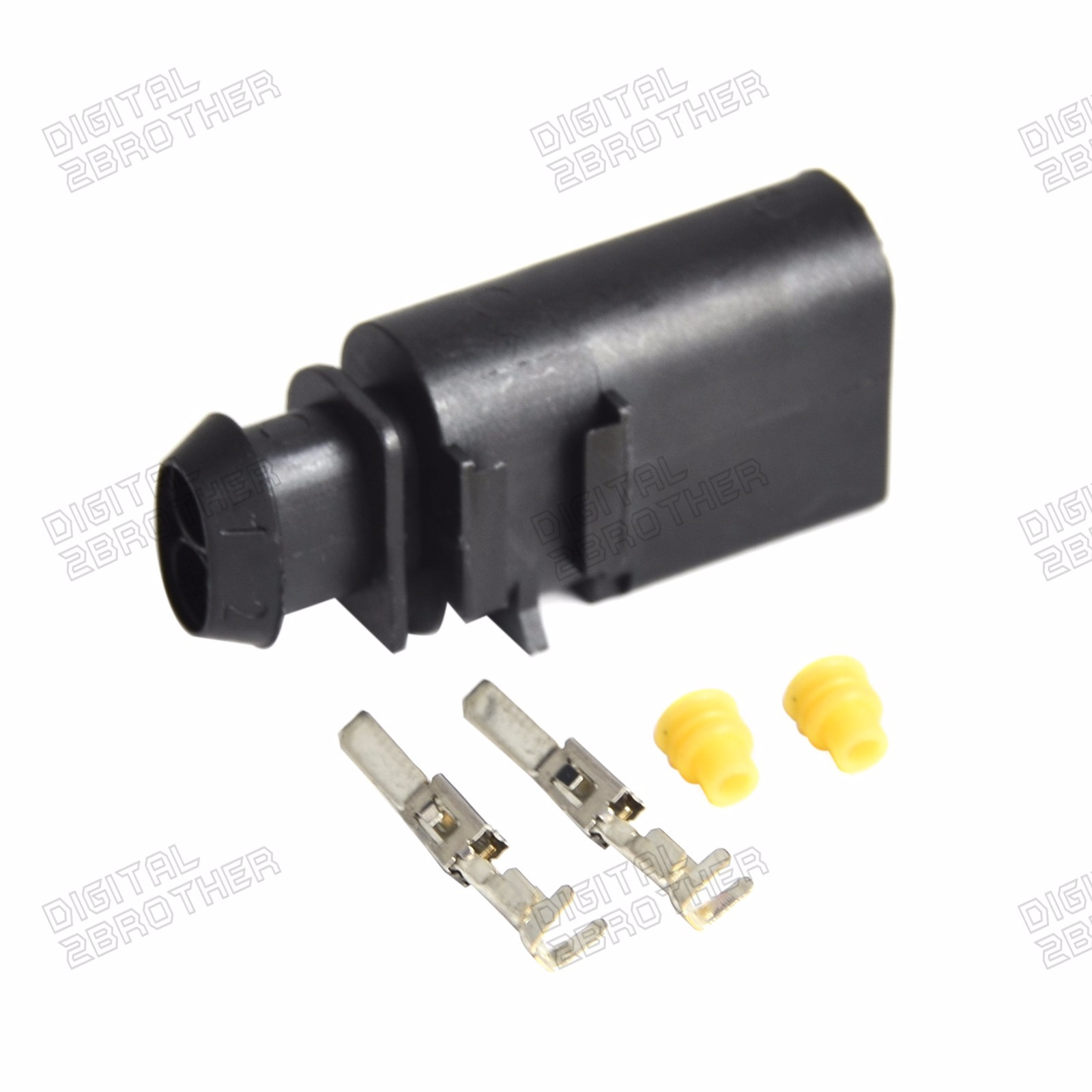 2 Pin Sealed Male Jpt Connector Terminals Boot Kit 1j0 973 802 For Vw Terminal Connectors Audi Vag