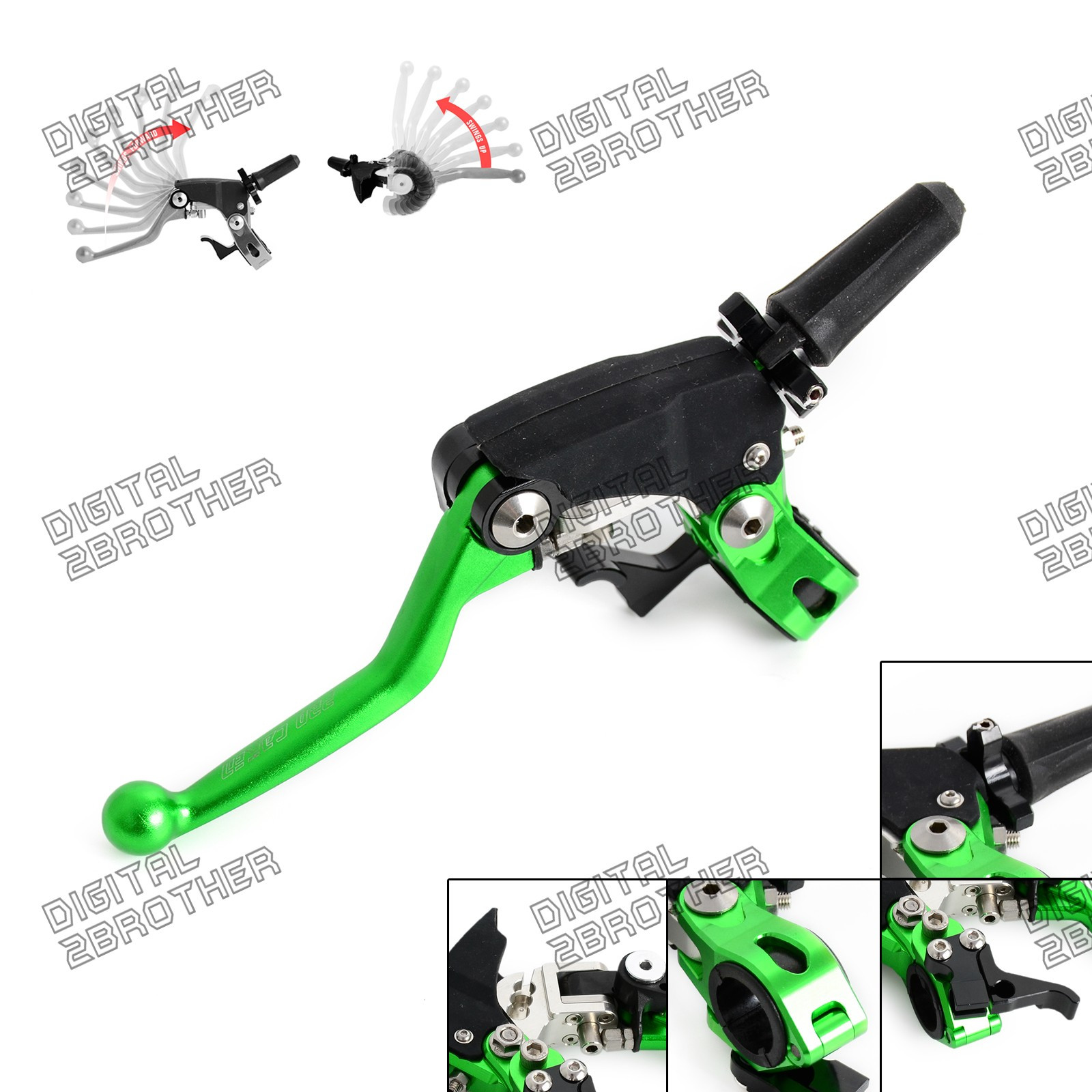 Adjust Clutch Lever Perch Hot Start Green For Kawasaki Kx250f Wiring Diagram Kx450f 04 16