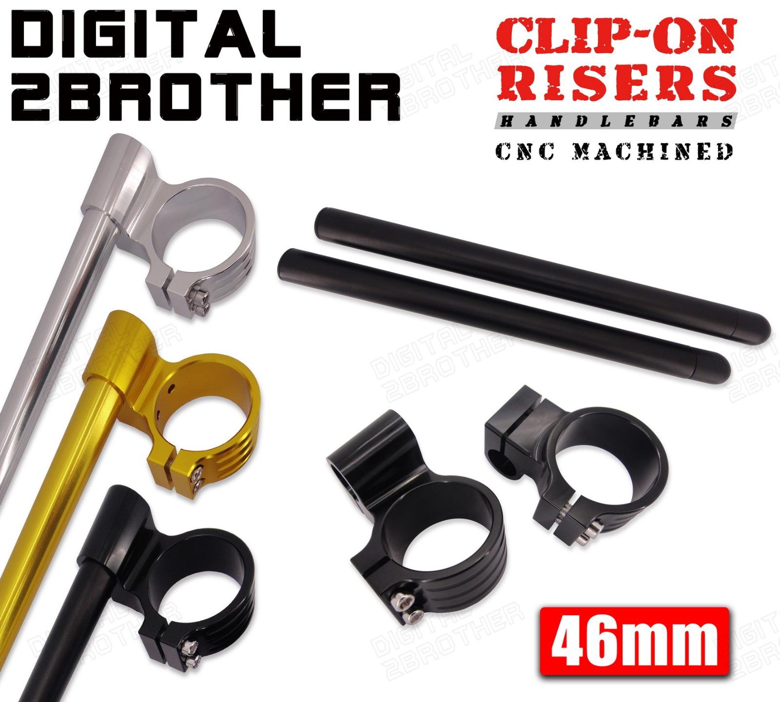 BLK 46mm CNC Clip-on Handlebars For Kawasaki Ninja ZX6R ZX9R 1998-2002 99 00 01
