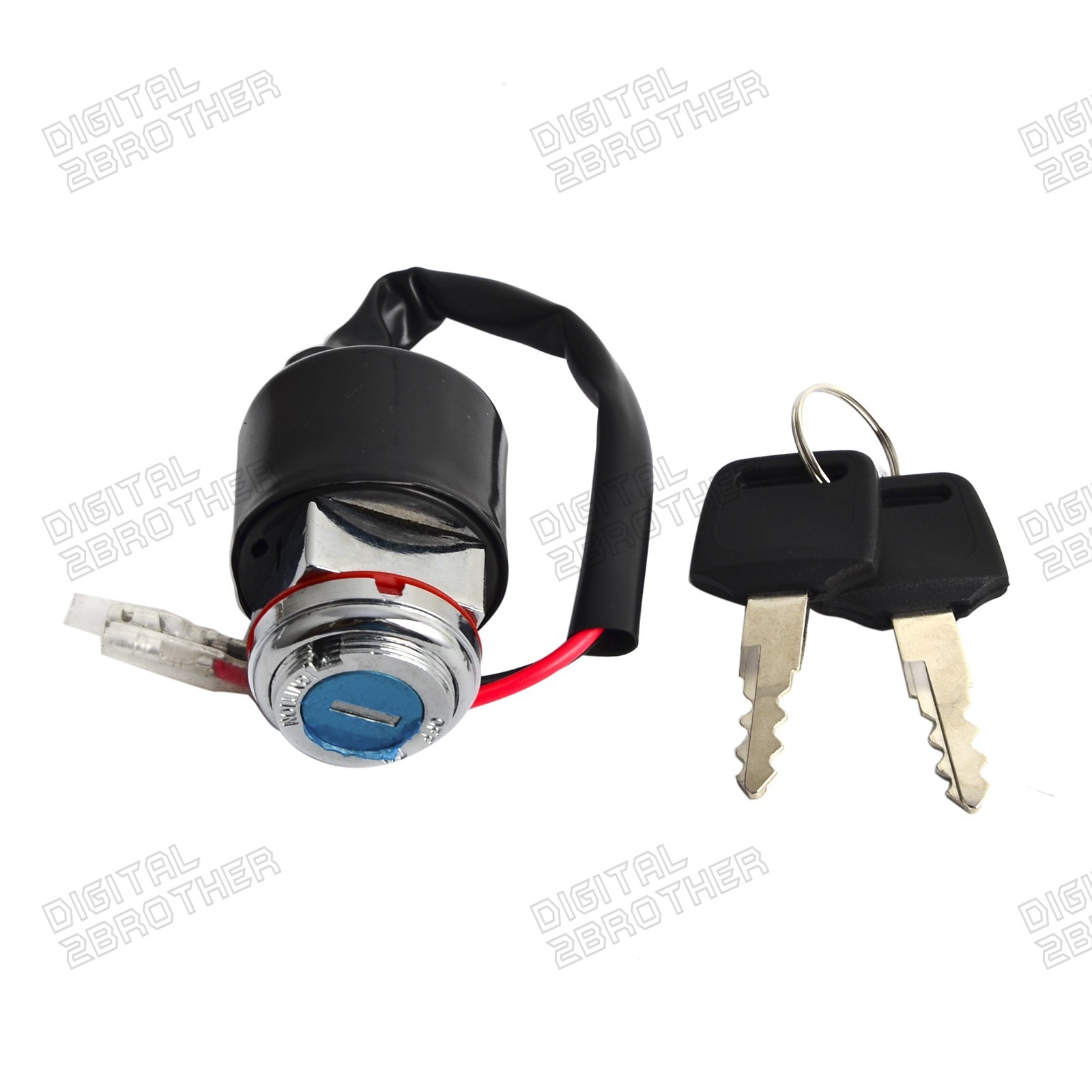 Ignition Key Switch 2 Wires For Honda CB100 1970-1972 CB125S 73-75 CT90 69- 79