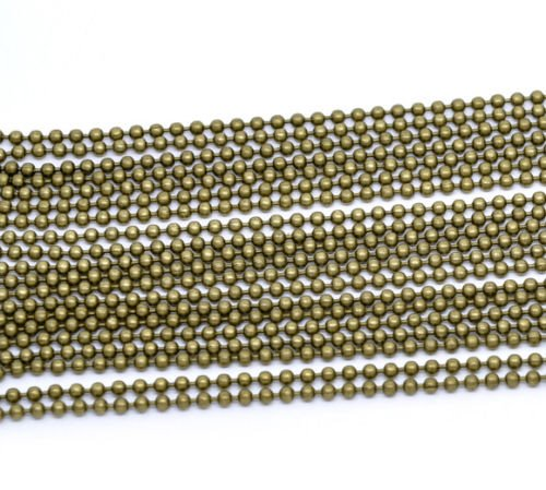 """WHOLESALE LOT 50 100 200 500 1000  BALL CHAIN 2.4mm 18/"""" Nickel Plated Best Price"""