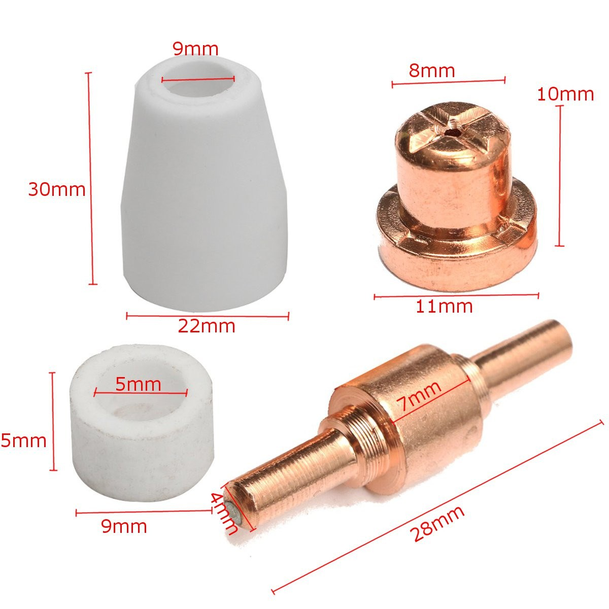Pt31 Lg40 Plasma Cutter Torch Electrode Tip Nozzle Consumable Circuit Accessory 130pcs