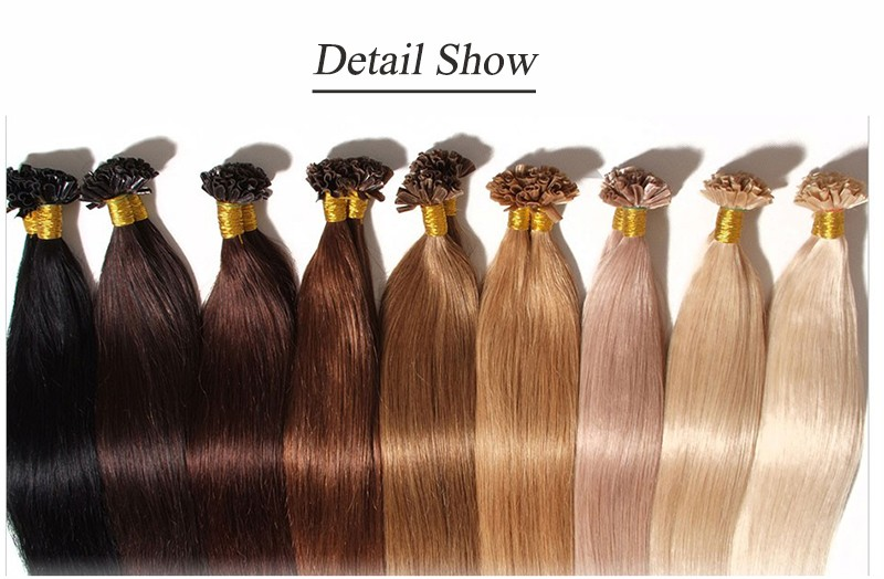 Keratin Fusion U Tip Nail Pre Bonded Real Remy Human Hair Extensions