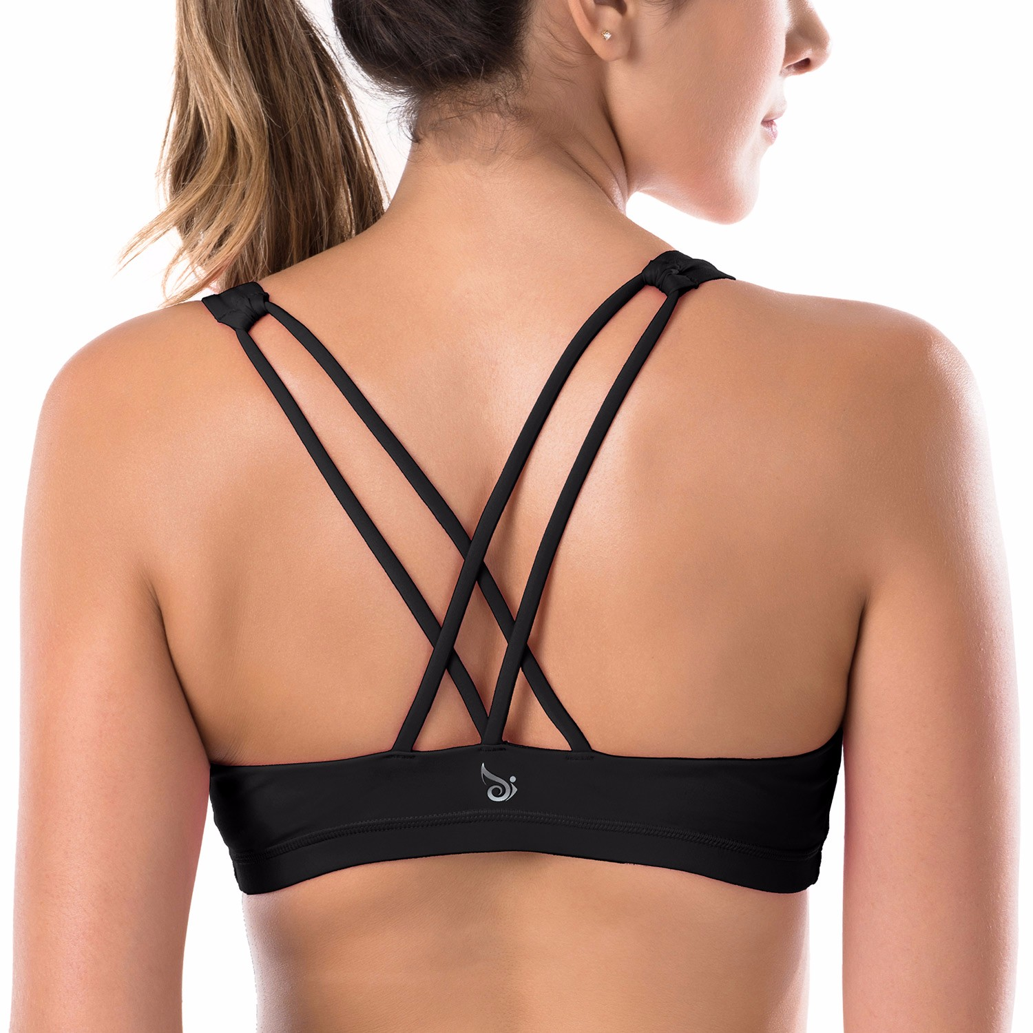 Queenie Ke Womens Yoga Sport Bra Light Support Strappy: Women's Cross Back Low Support Removable Pads Wirefree