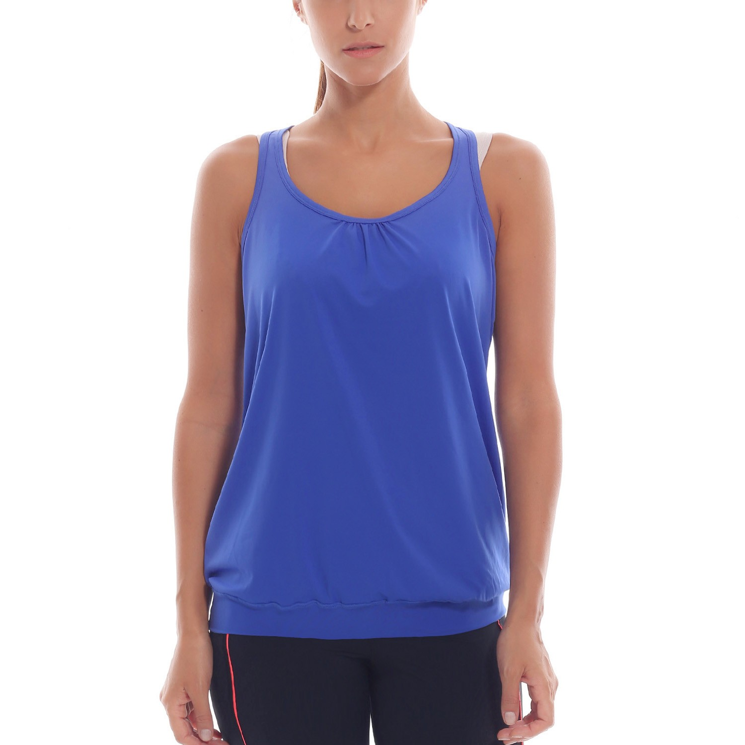 Women's Active Racerback Athletic Sports T-shirt Long Tank ...