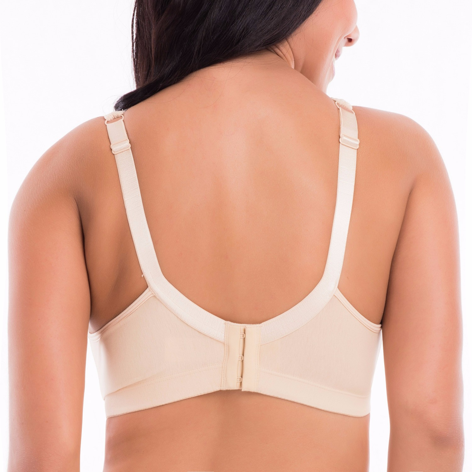 Women-039-s-Cotton-Full-Coverage-Wirefree-Non-padded-Lace-Trim-Plus-Size-Bra thumbnail 20