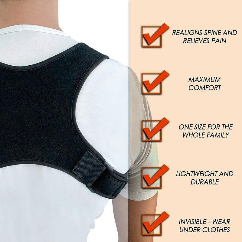 Bicye/&Sandth Ajustable para Adultos Cuerpo Que Forma Corrector de la Postura de la Correa de Hombro Ayuda Back Brace Correa de Hombro para Mejorar la Jorobado Ronda