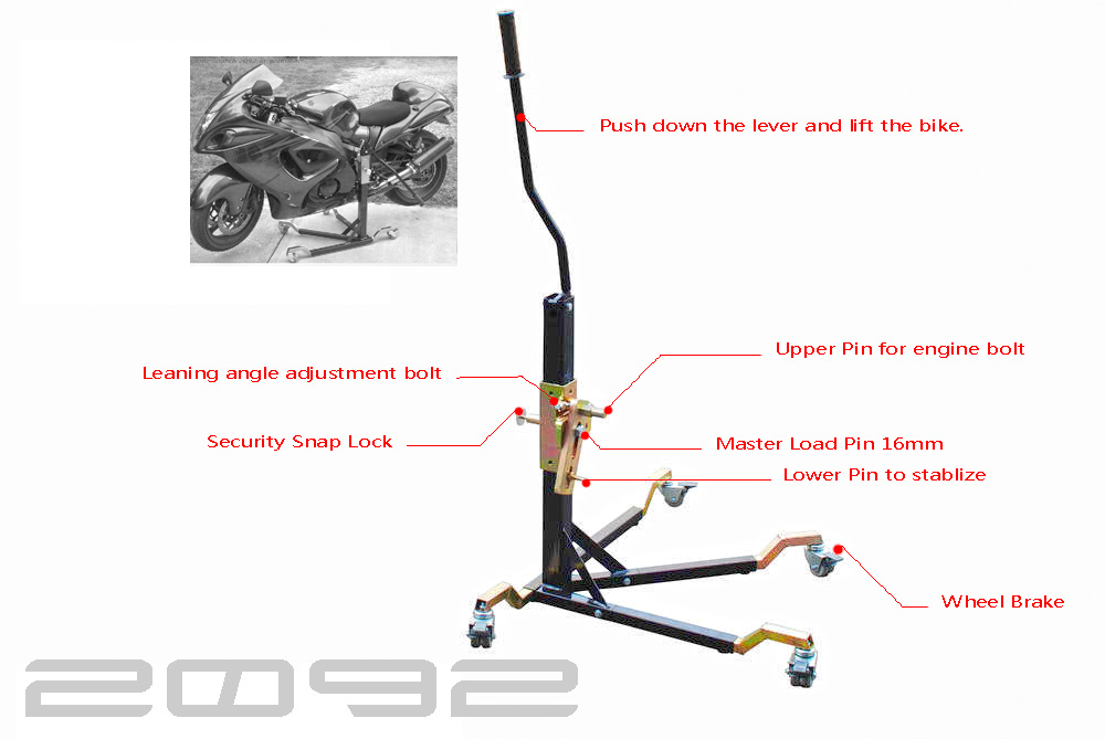 Motorcycle Central Paddock Spider Stand Lift For Honda