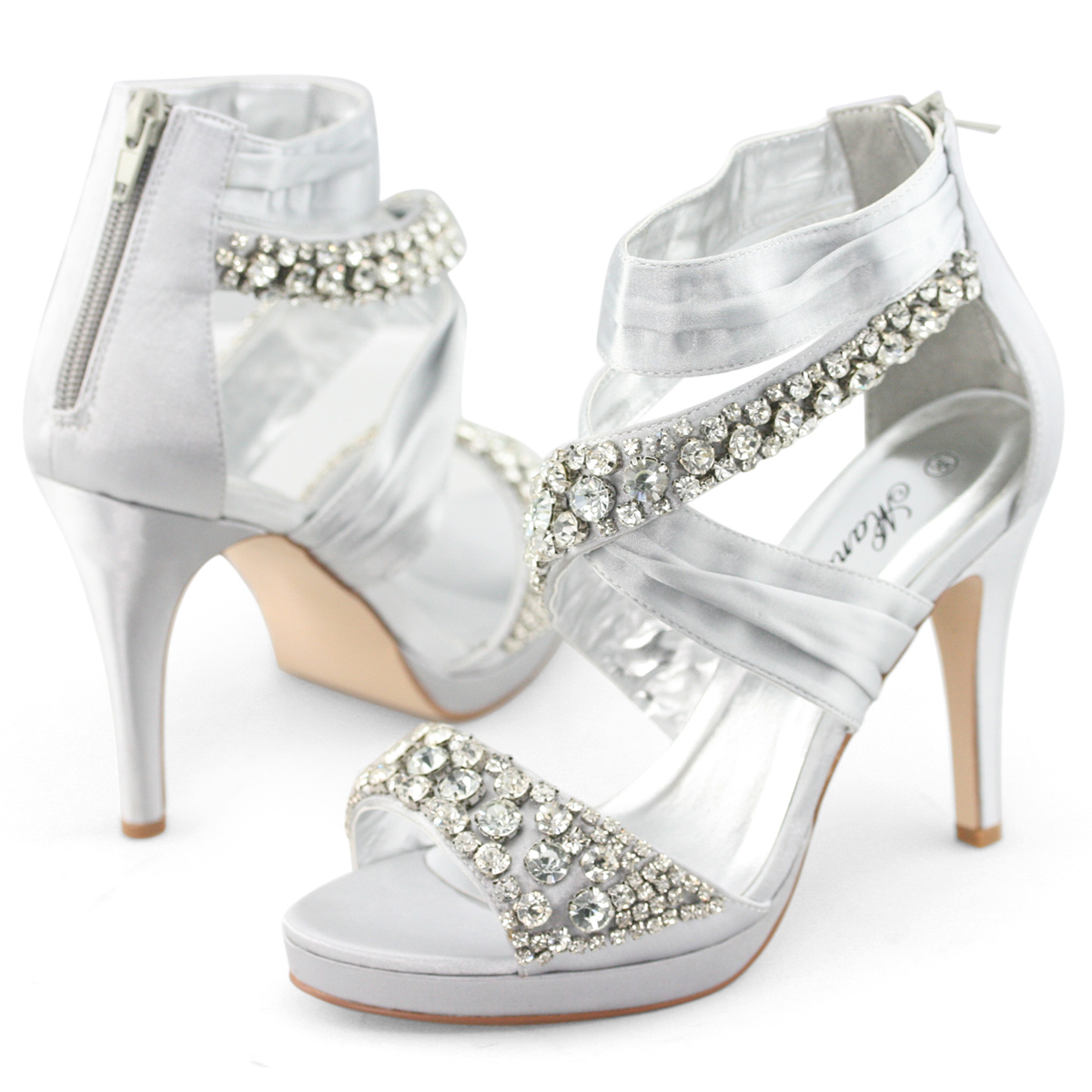 9809ab4a8e57 Silver Womens get dressed nighttime shoes