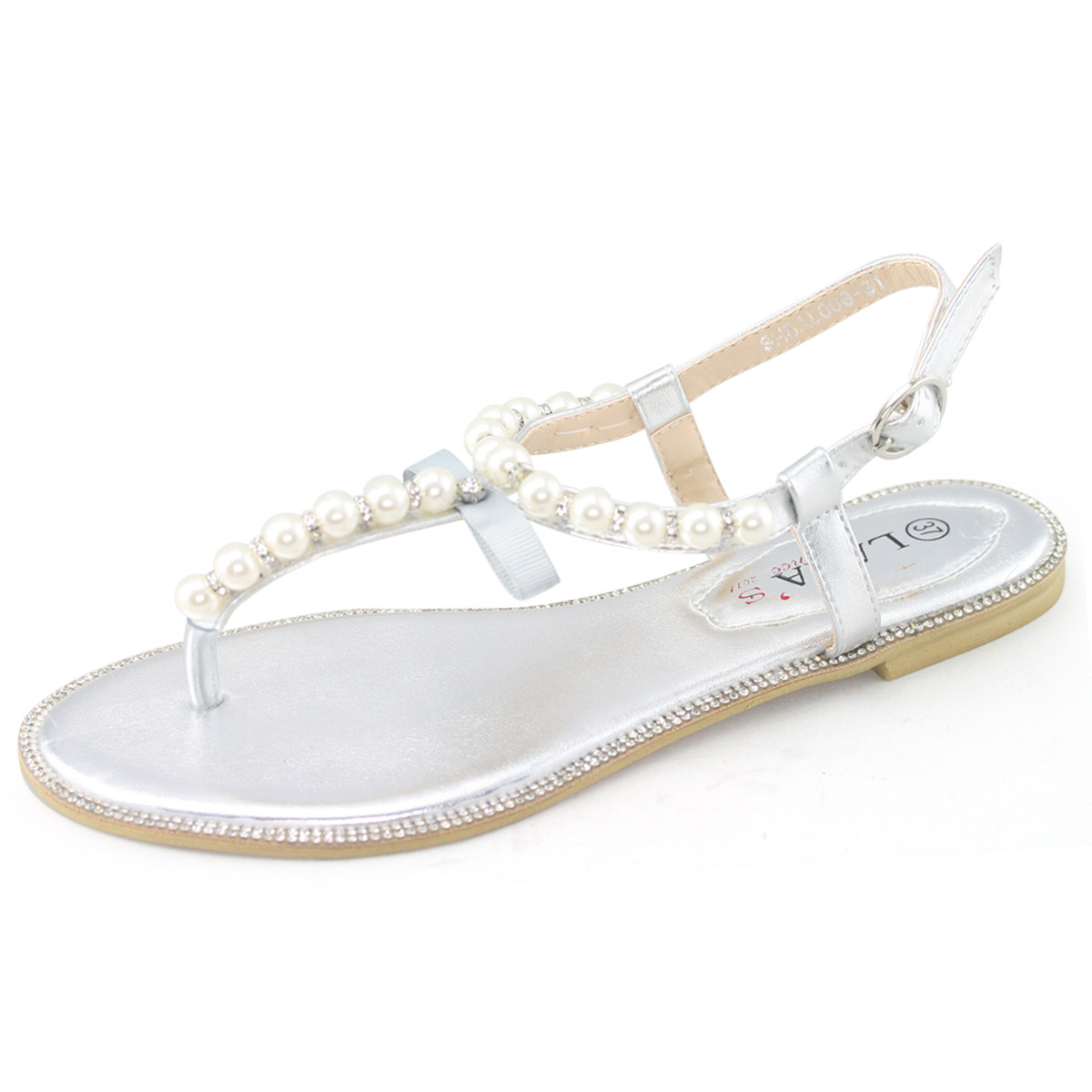 4492873c636e0 All about Shesole Womens Flat White Pearl Beach Wedding Sandals ...