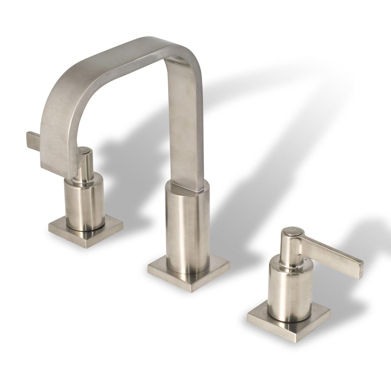 Bathroom Vanity Sink Widespread Lavatory Faucet Brushed