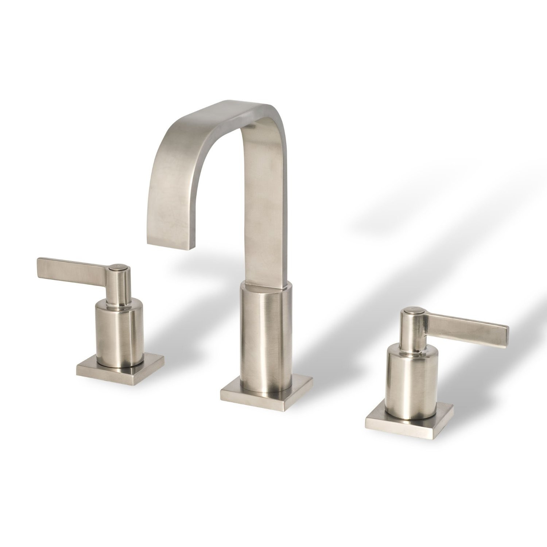 Bathroom vanity sink widespread lavatory faucet brushed - Brushed nickel bathroom sink faucet ...