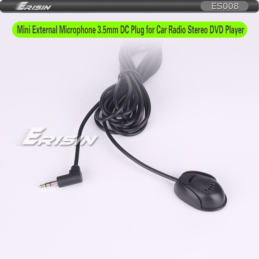 Externes Microfon Stereo Microphone 3,5mm Klinke Für Autoradio Freisprech Laptop