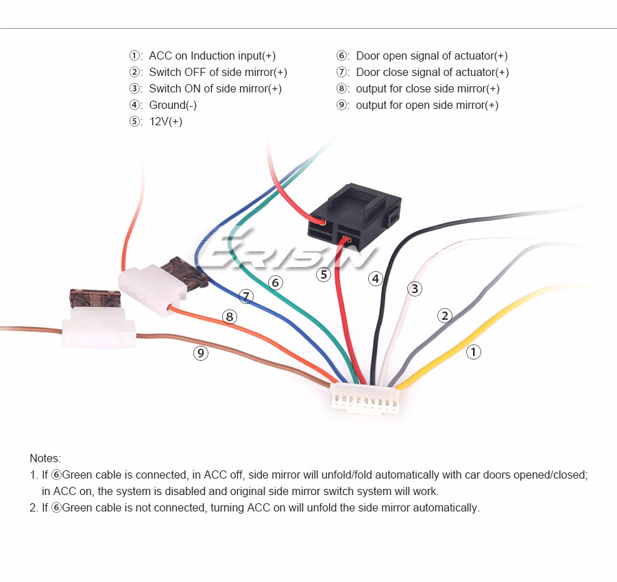 Smart car door lock relay side mirror auto lock folding system 1 side mirror auto lock folding system modules 1 wires 1 user manual asfbconference2016 Image collections