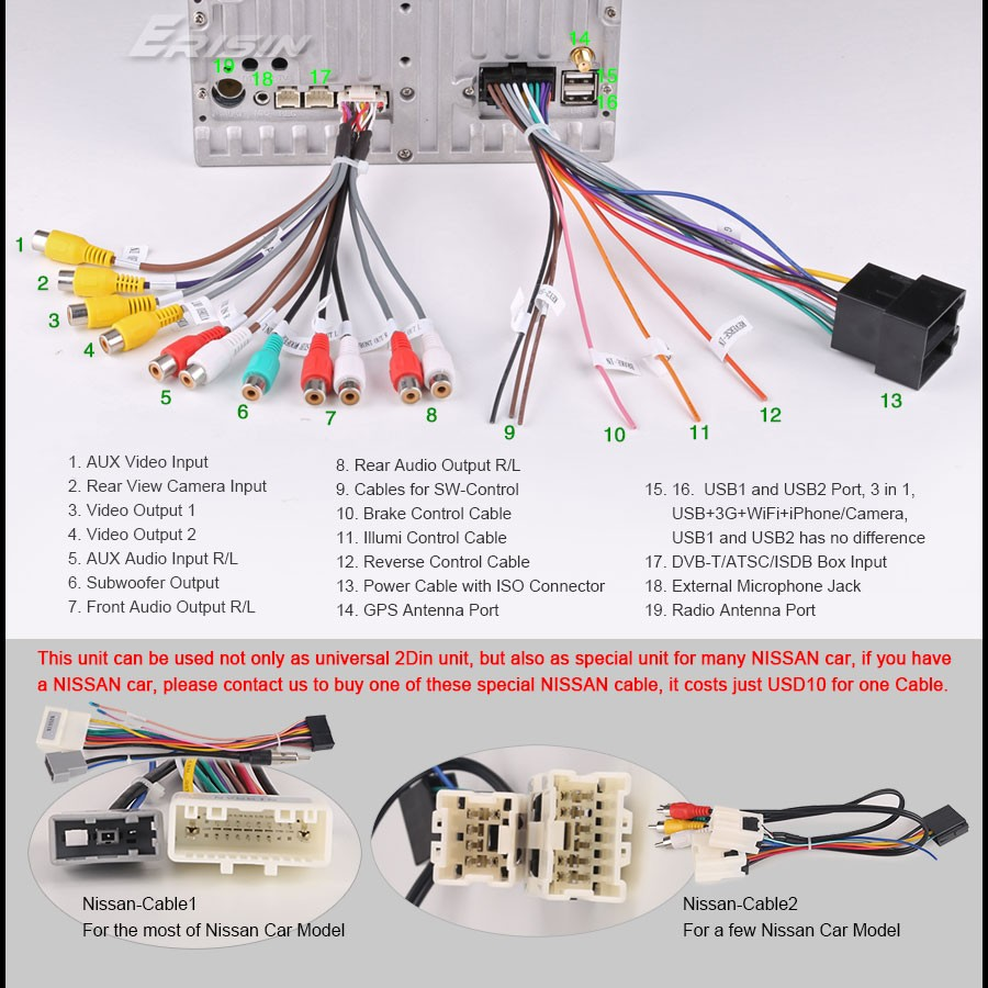 no tax double din nissan sd mp3 car dvd cd stereo player ... wiring diagram for car audio wiring diagram for car dvd player