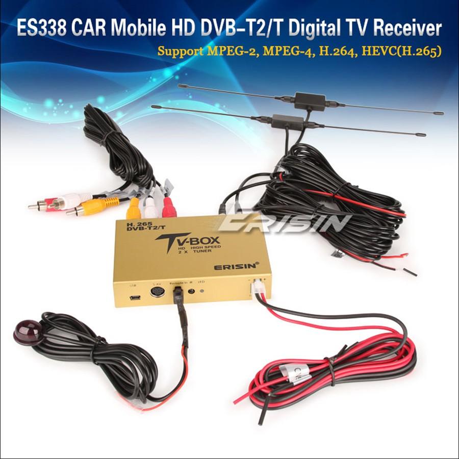 Erisin ES338 DVB-T H.265/264 T2 Digital TV Box 2 Antenna 3M 160km/h ...