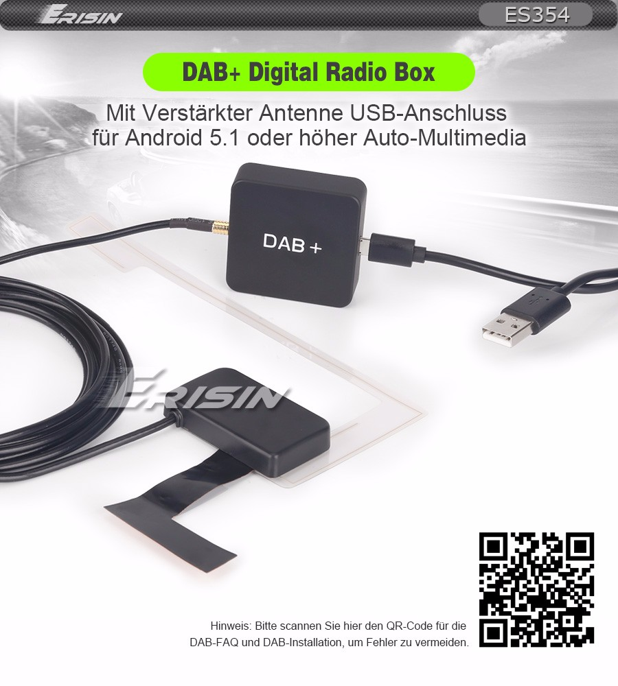 dab autoradio antenne scheibenantenne adapter splitter f r. Black Bedroom Furniture Sets. Home Design Ideas