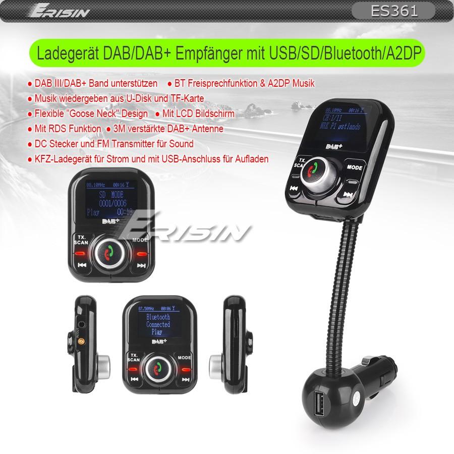 Dab Sender Karte.Details Zu Dab Digital Radio Ladegerat Lcd Bluetooth A2dp Usb Tf Rds Duplex Fm Sender