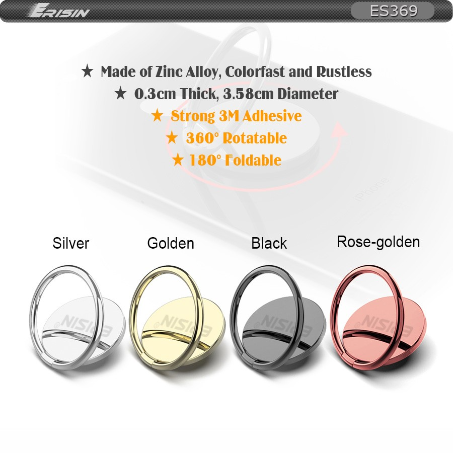 Cell Phone Ring Mirror Holder Transer Cell Phone Grip Kickstand 360/° Rotation Zinc Alloy Finger Loop Ring Stand Rose Gold