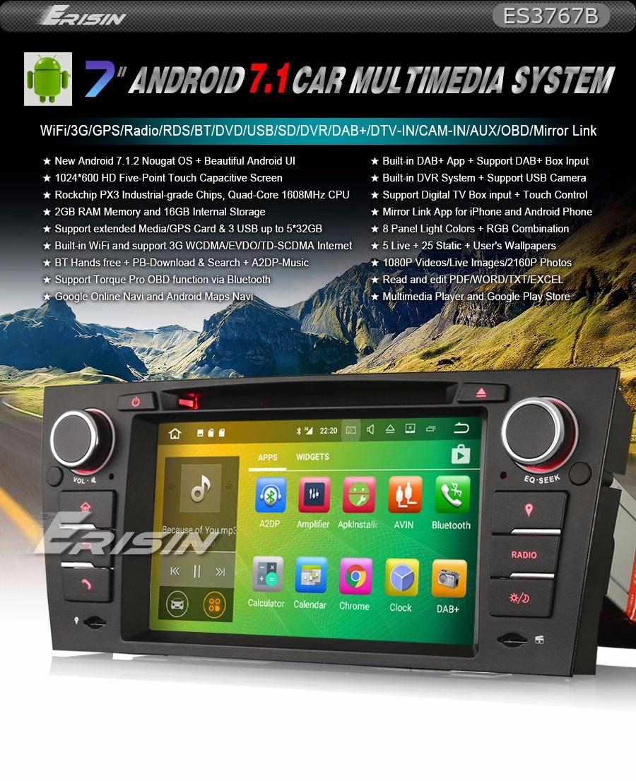 Car Stereo Gps Android 71 Wifi Sat Nav Bmw E90 3er E91 E92 Coupe Seden Wiring Diagrams Toyota Sprinter Es3767b 7 Quad Core Capacitive Multimedia Player 3g Dvr Dtv In Dab