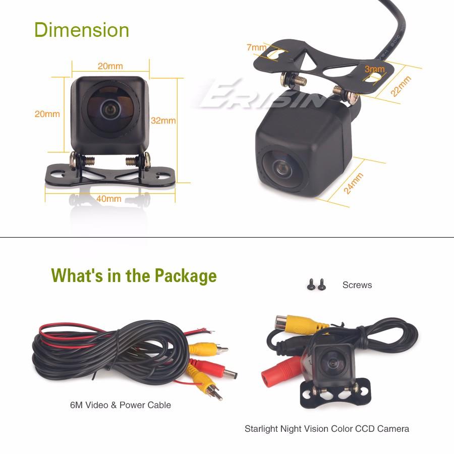 Fisheye170° Starlight Night Vision Color CCD Reverse sensor HD Rear View Camera