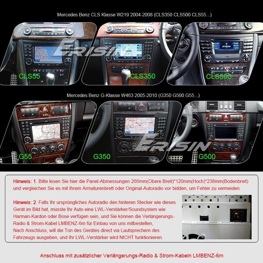 Android 8.0 DAB+ Autoradio GPS Mercedes Benz E/CLS/G Class W211 W219 ...