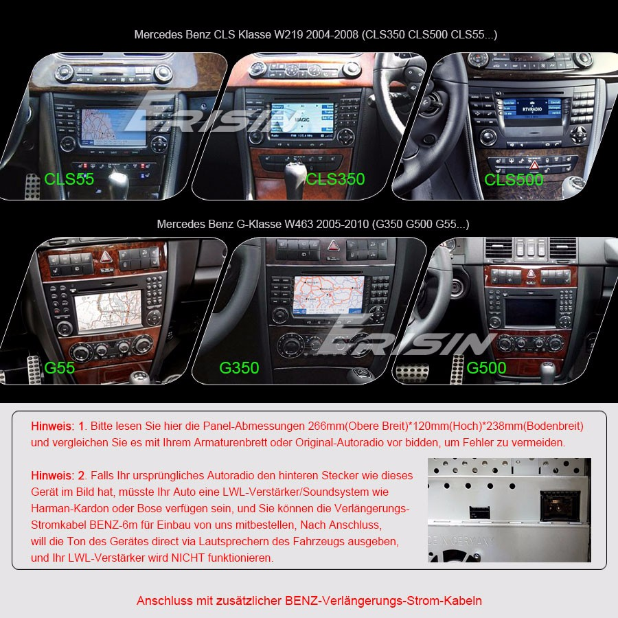 Android6.0 DAB+ GPS WIFI DTV-IN Autoradio Mercedes BENZ E/CLS/G ...