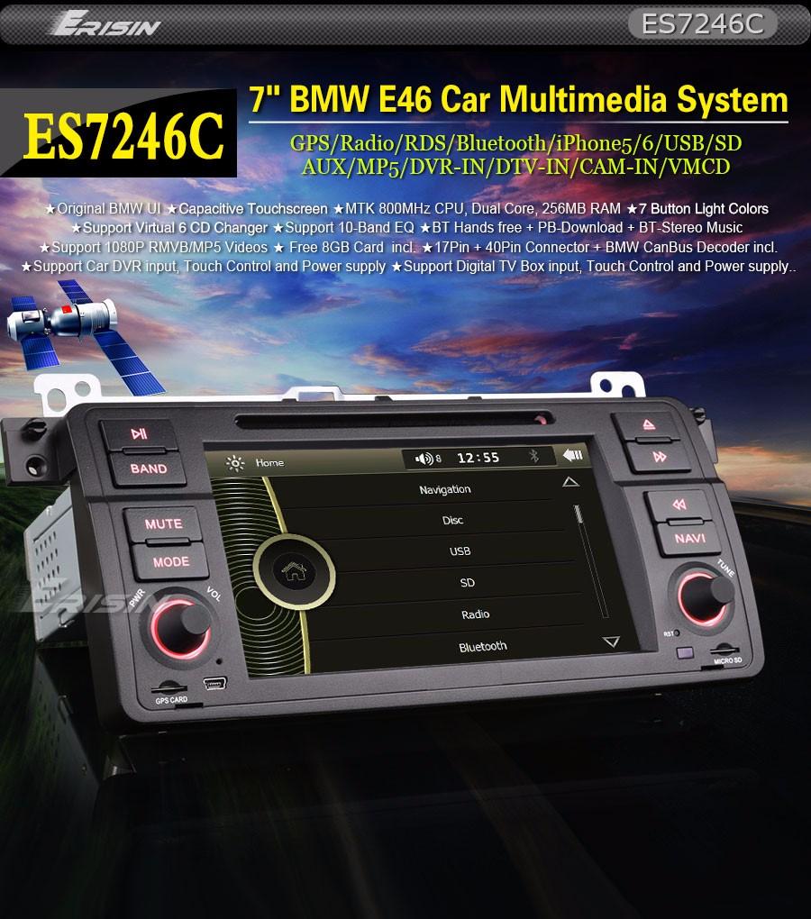 Bmw E46 Car Dvd Stereo Gps Satnav 1080p Headunit 3er M3 Rover75 Mg 7 Wiring Diagram Microphone Wheel Control External Jack Show Ipod Iphone5 6 Ipad Playlists Recorder And Dvb T Atsc Isdb Box Input Power Supply Touch