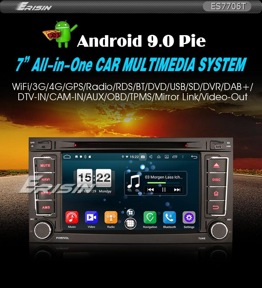 CANBUS 4G Android 8.1 Autorradio USB Estéreo For VW Touareg T5 Multivan OBD DAB