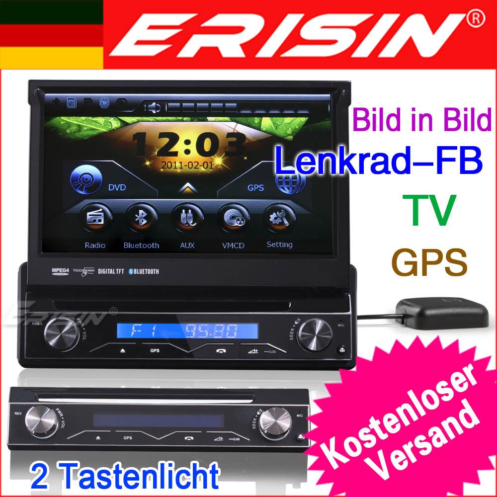 es788ge 7 1 din hd touchscreen autoradio navigation gps ipod tv dvd ebay. Black Bedroom Furniture Sets. Home Design Ideas