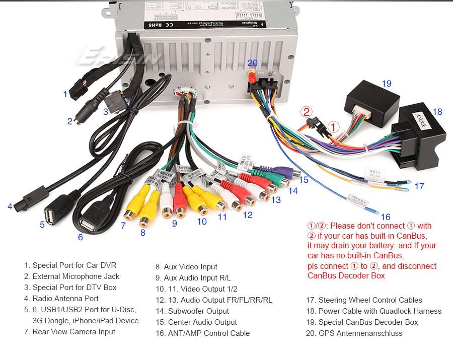 Car Stereo Sat Nav Bluetooth Radio For Vw Golf 5  6 Passat Tiguan Polo Jetta Seat 687765846144
