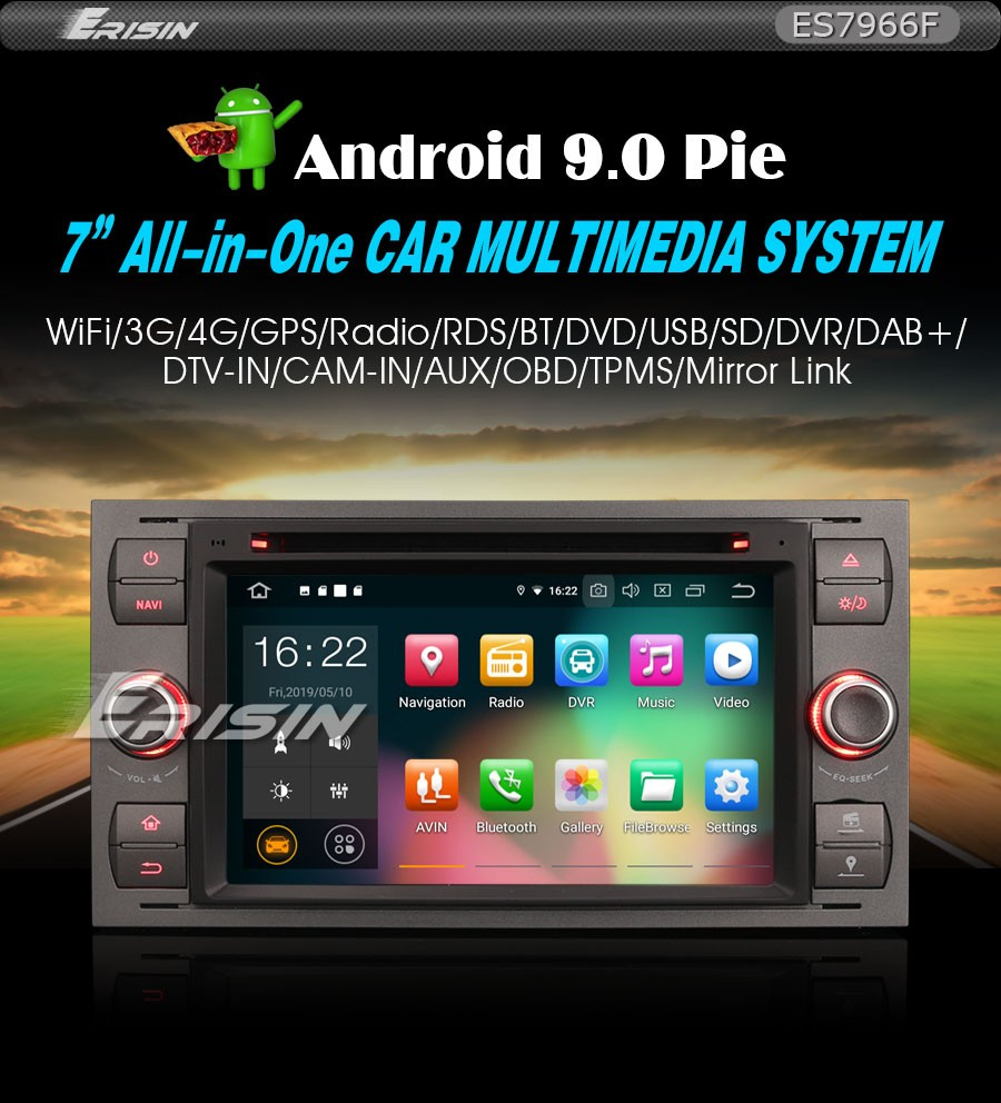 Details about Android 9 0 PX5 Car DVD GPS DAB+ Ford Fiesta Focus C-Max  S-Max Transit TPMS 7966