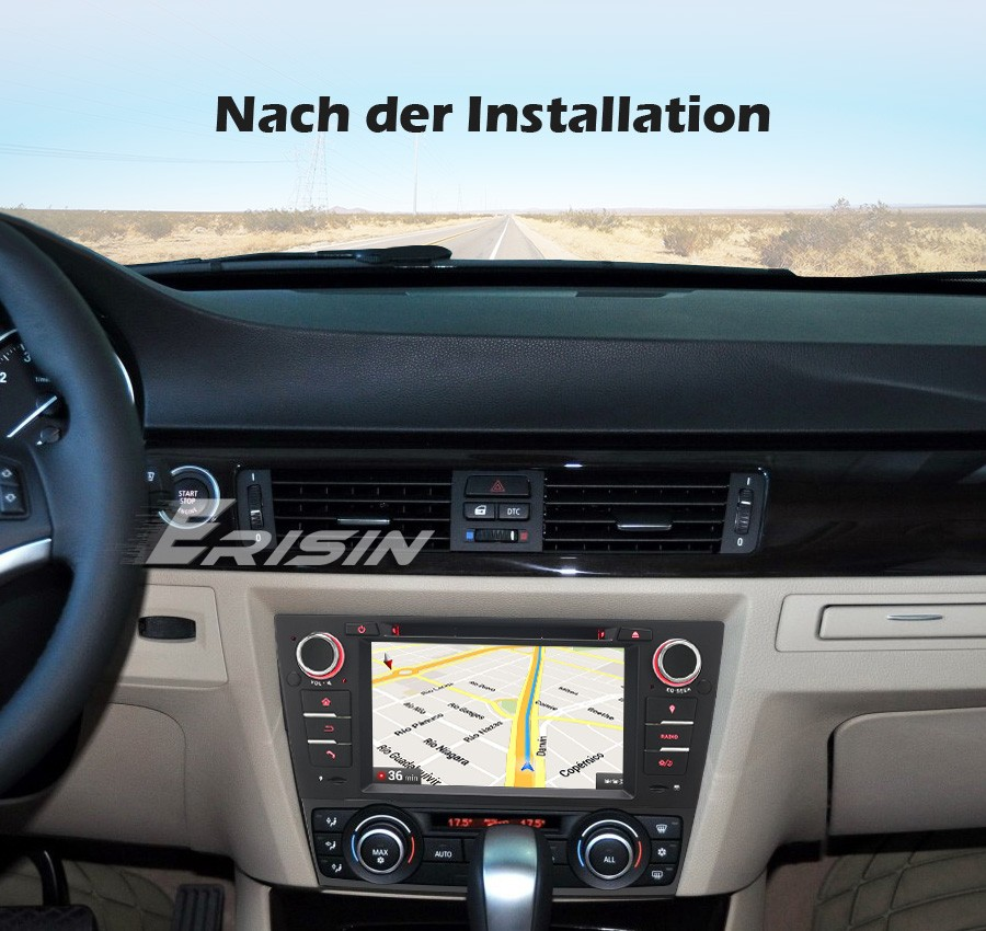Ossuret Android 10 Autoradio-Radio GPS-Navigation f/ür BMW 3er E90 Can-Bus-Unterst/ützung Lenkradsteuerung E91 E92 E93 2006 2007 2008 2009 2010 2011 2012