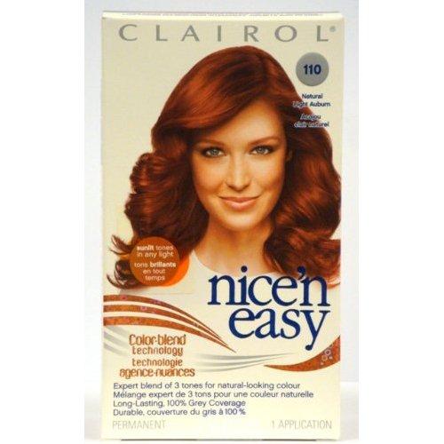 5 Clairol Nice N Easy Color 110 Natural Light Auburn