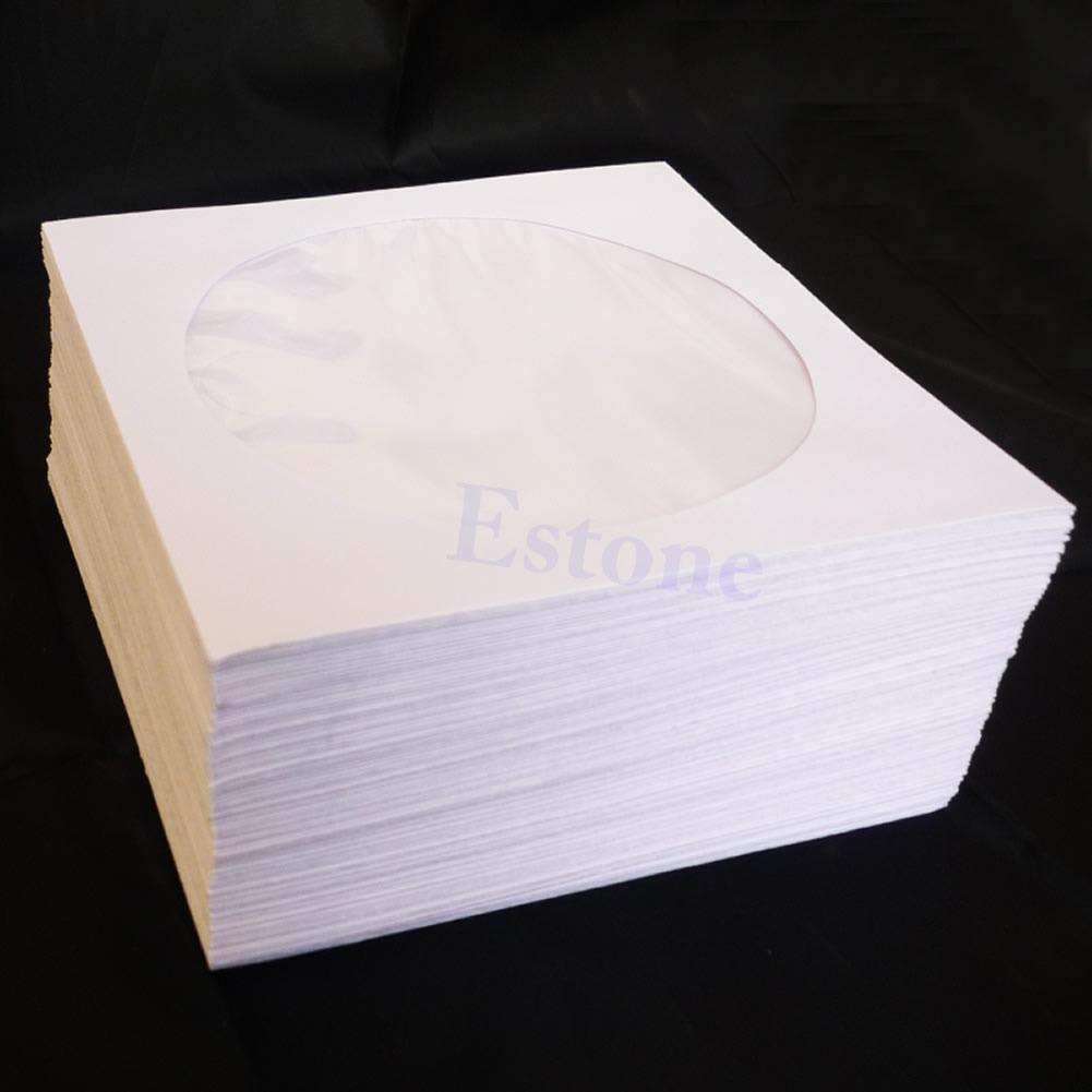 50  100pcs mini cd dvd window paper bag flap sleeves wallet