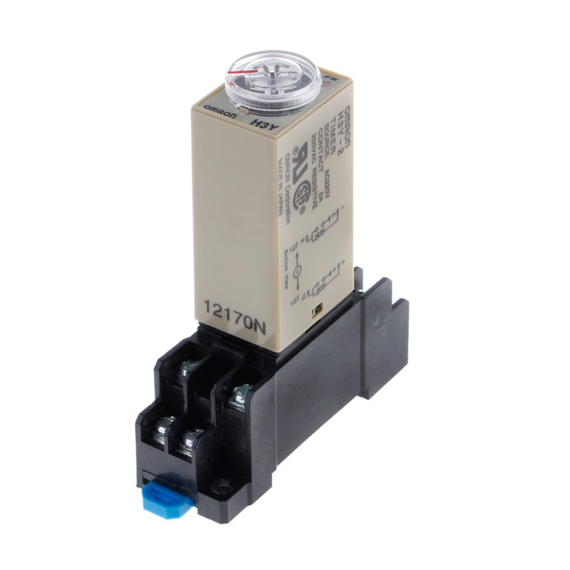 AC 220V H3Y-2 Power On Time Relay Delay Timer 1.0~ 30 Minute DPDT /& Base Socket