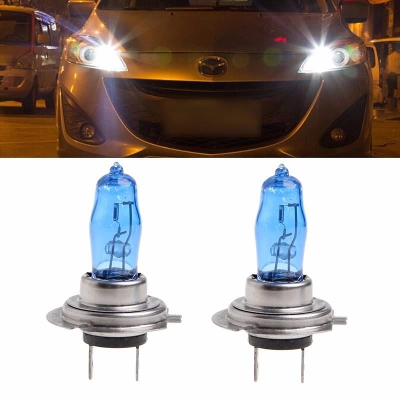 2 pcs h7 6000k gas halogen headlight white light lamp bulbs 100w bright dc 12v. Black Bedroom Furniture Sets. Home Design Ideas