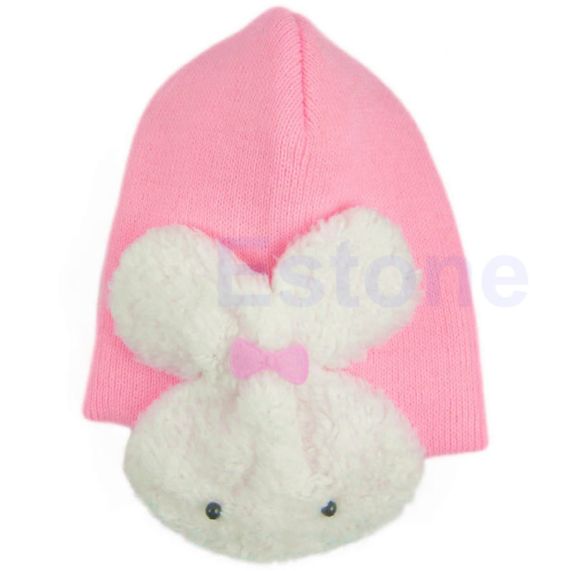 Baby Toddler Kids Boys Girl Winter Ear Flap Warm Hat Beanie Cap Crochet Rabbit