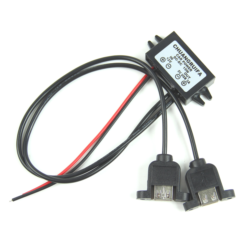 Details about DC DC 12V To 5V 3A 15W Duble USB Output Power Adapter  Converter Module