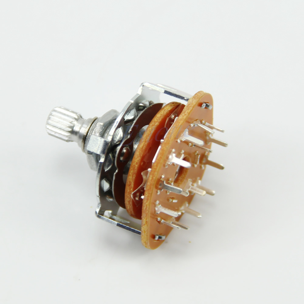 New Guitar Amplifier Channel Band Rotary Switch Selector 3 Pole 4 Position 3p4t