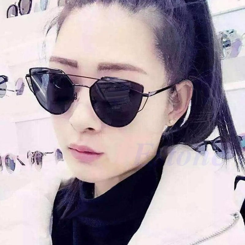 2249974972f Fashion Women s Gold Retro Cat Eye Sunglasses Classic Designer Vintage  Shades
