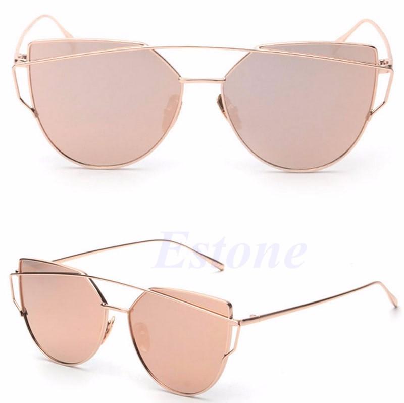 Sunglasses Women Mirrored Lenses Designer Sports Retro Vintage Cat Eye Oversized
