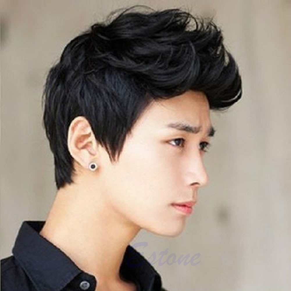 Men Korean Handsome Vogue Black Short Hair Cosplay Party Hair Wig ...