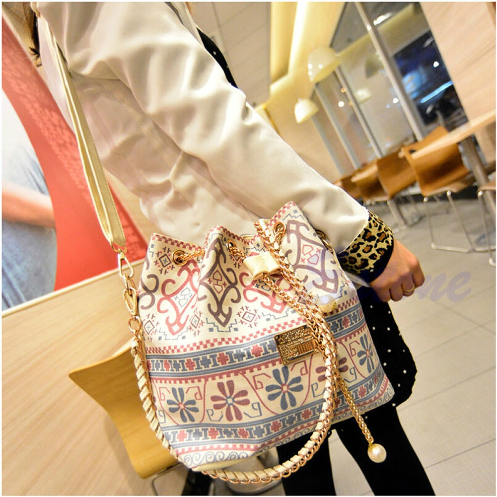 609e3cecac2f 2 Styles Women Bucket Clutch Chain Handbag Tote Messenger Shoulder Satchel  Bag