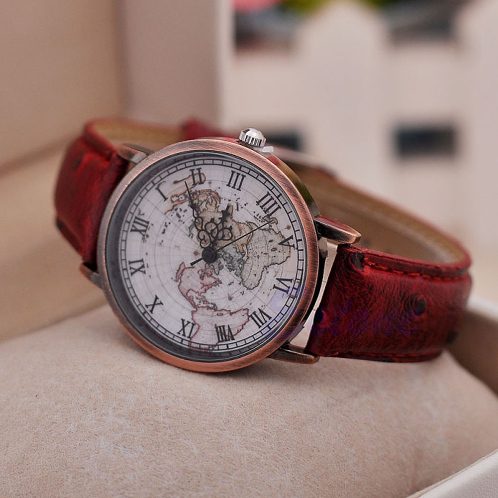 stylish marble womens chronoswatches cheeky co leather cheap uk he layer dial watch watches luxury products brown faux fashion mens ladies by effect