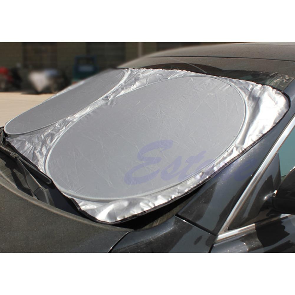 Auto Car Front Rear Window Folding Jumbo Visor Sun Shade Windshield Cover  Block  29e849636eb